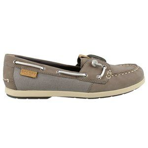 Sperry Womens Size 8 M Gray Coil Ivy Boat Shoes